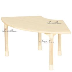 兒童實木扇形桌子