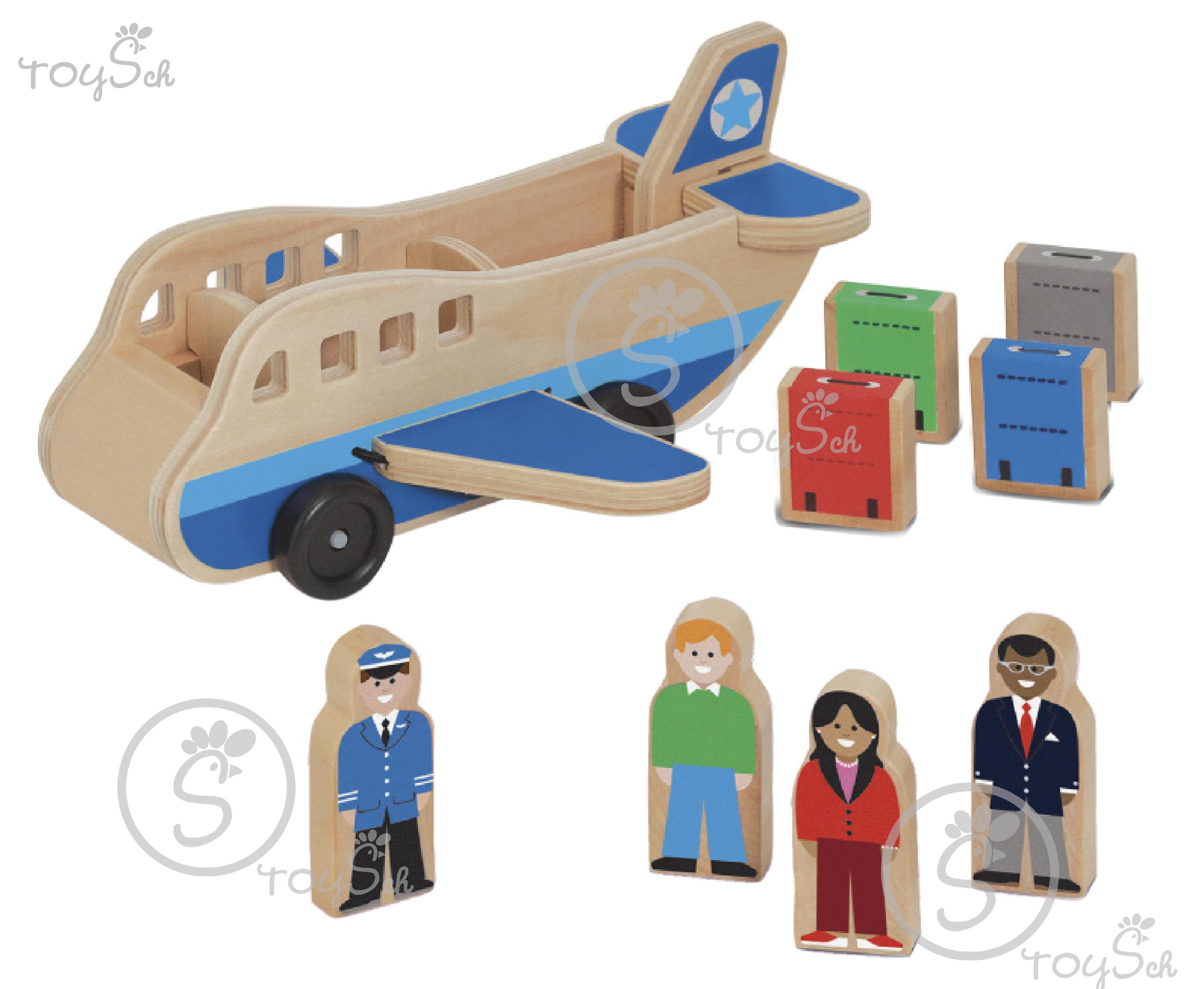 Wooden Aircraft Set