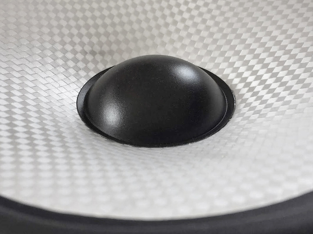 A speaker cone using Endumax. This material was developed and is manufactured by Teijin Aramid, a subsidiary of the Teijin Group, a longterm supplier to the speaker industry.