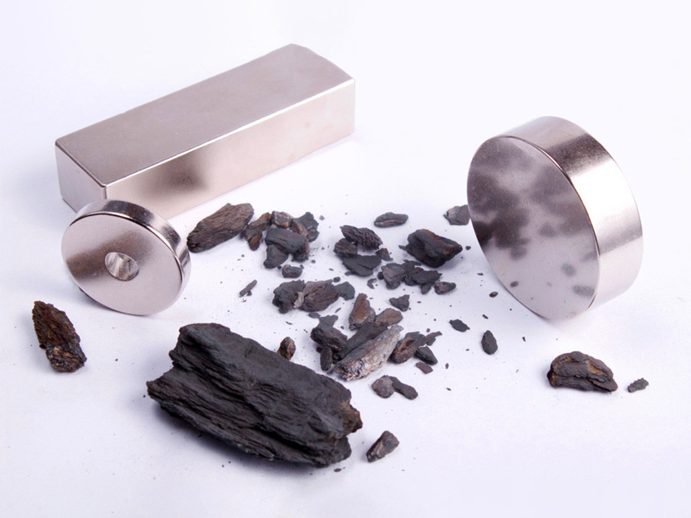 Magnets produced using recycled neodymium. Photo credit: Urban Mining Company