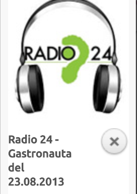 RADIO 24 - GASTRONAUTA DEL 23.08.2013