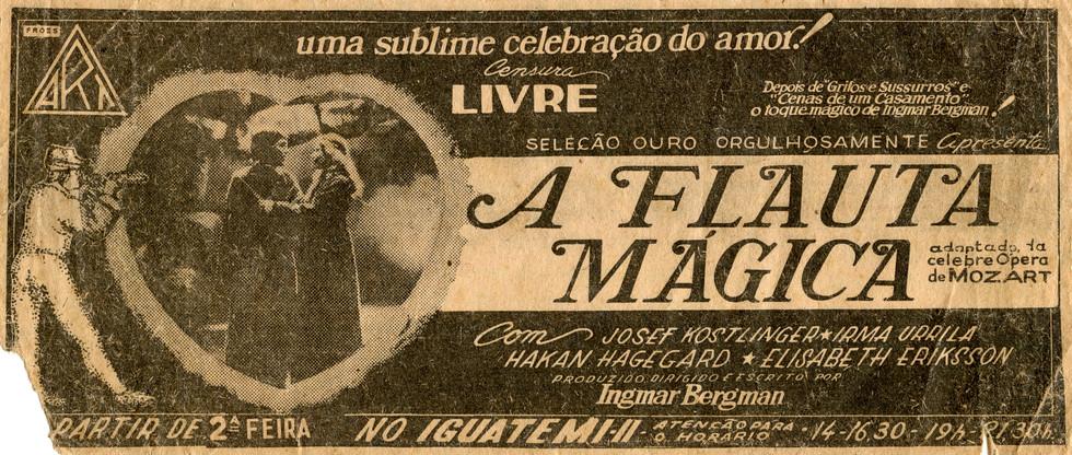 THE MAGIC FLUTE (Trollflöjten, original title)
