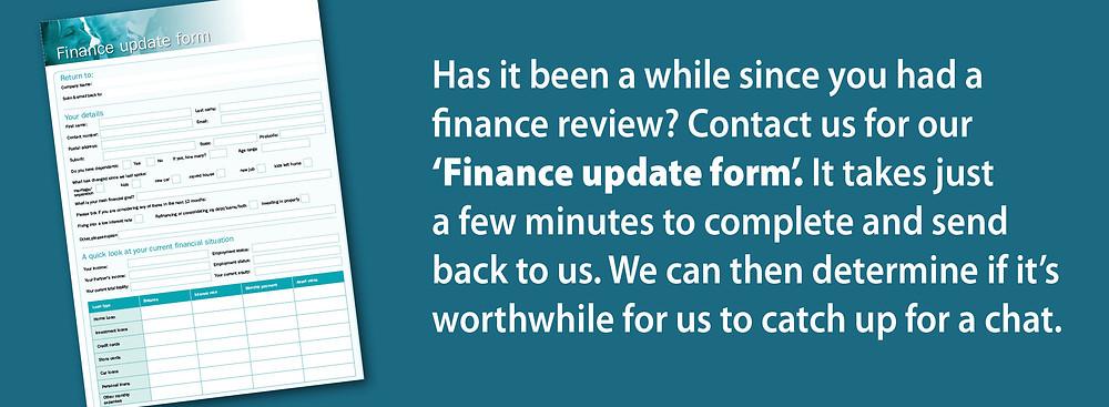 Finance Update Form
