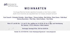 Ausstellung Weihnarten 2019 / Galerie Artespace Flyer