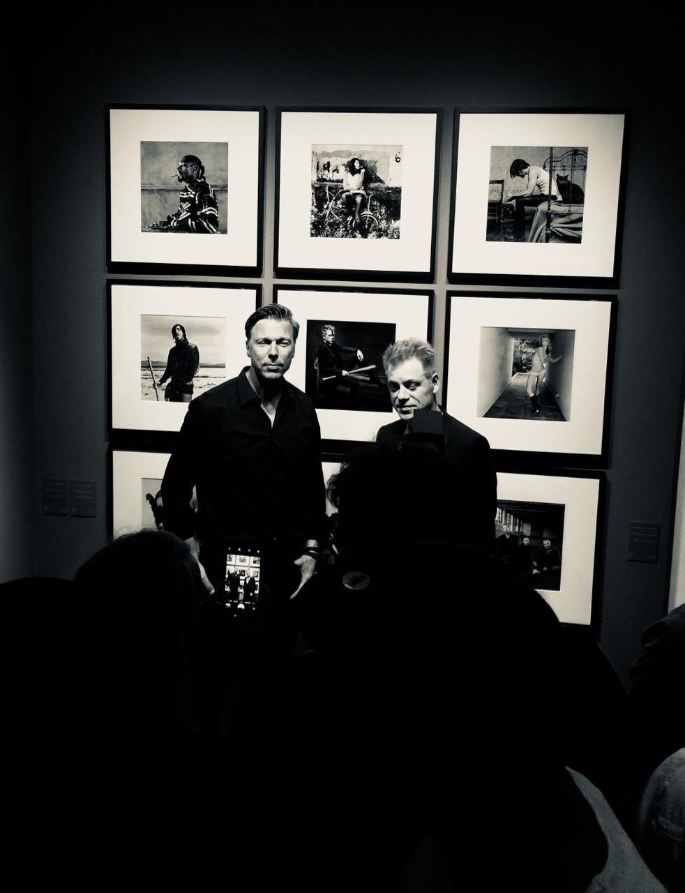 """Olaf Heine & M- Mittermeier bei der Vernissage zu """"Hush Hush"""""""