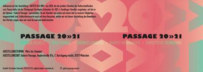 Galerie-Passage 2021, München, Openspace Galerie, Yens Franke, Monika Aichele, Thomas Lomberg, Margit Memminger, Christophe Schneider, Austellung