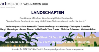 Ausstellung Weihnarten 2020 - Galerie artespace