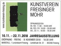 Jahresausstellung 2018 | Kunstverein Freisinger Mohr | Yens Franke