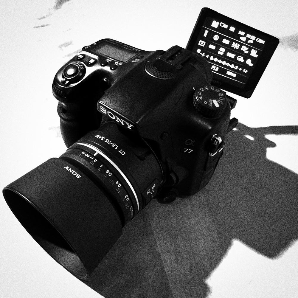 Kamera Sony alpha 77v von Yens Franke