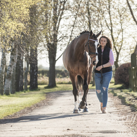 Amy & Dressage Horse, Cash Flow