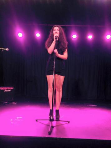 Teenage singing and performing Glasgow