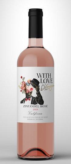 With Love Zinfandel Rosè ( A Single Rosè) 750mL
