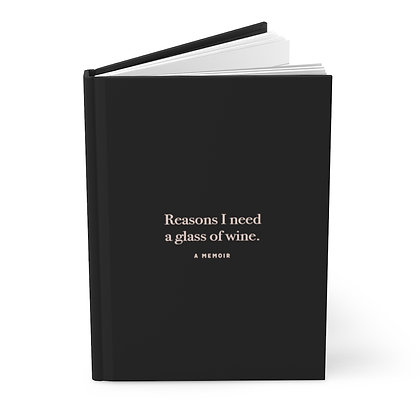 Reasons I need a glass of wine - Hardcover Journal