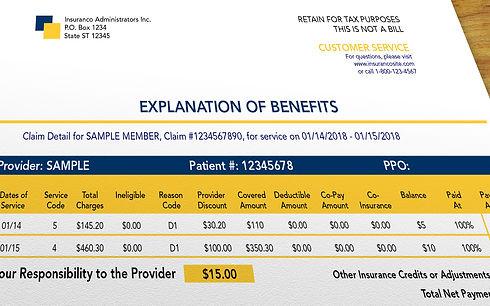 Chiropractic insurance bill claim