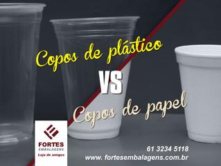 Copos de Plásticos X Copos de Papel: Qual é mais sustentável?