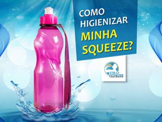Como higienizar sua garrafa squeeze