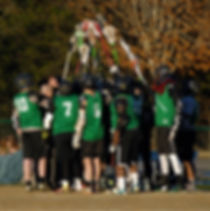 Asheville Gladiator Lacrosse Team Huddle