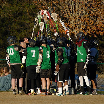 Asheville Gladiator Lacrosse Team Huddle