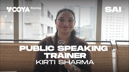Public Speaking Trainer with Kirti Sharma