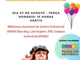 Angélica Rizzi participa com palestra e contação de histórias da 22ª Semana da Deficiência