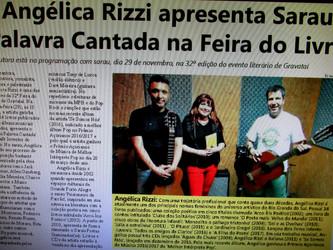 Angélica Rizzi foi destaque no Jornal de Gravataí e no Correio de Cachoeirinha