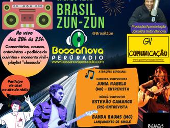 Sábado tem programa Brasil Zun-Zun ao vivo com Guto Villanova