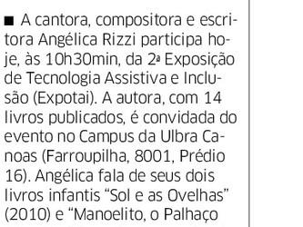 Palestra de Angélica na Expotai nas páginas do Correio do Povo