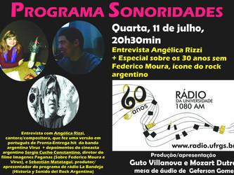 Angélica Rizzi participa do programa Sonoridades hoje