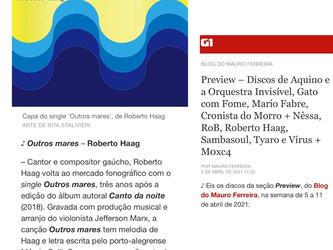 Divulgação na mídia do single 'Outros Mares' de Roberto Haag