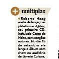 Roberto Haag com seu novo CD em destaque na Coluna de Eduardo Bins Ely no Jornal do Comércio