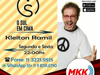 Angélica Rizzi em destaque no 'O Sul em Cima' hoje às 22h na MKK Web Rádio