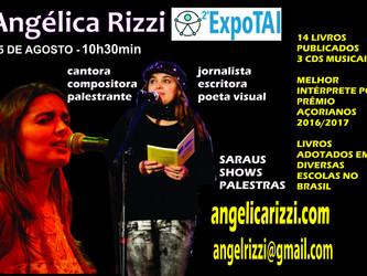 Angélica Rizzi faz palestra na EXPOTAI neste sábado 25/08