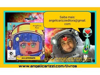 Angélica Rizzi divulga seu novo livro 'Lia, a astronauta'