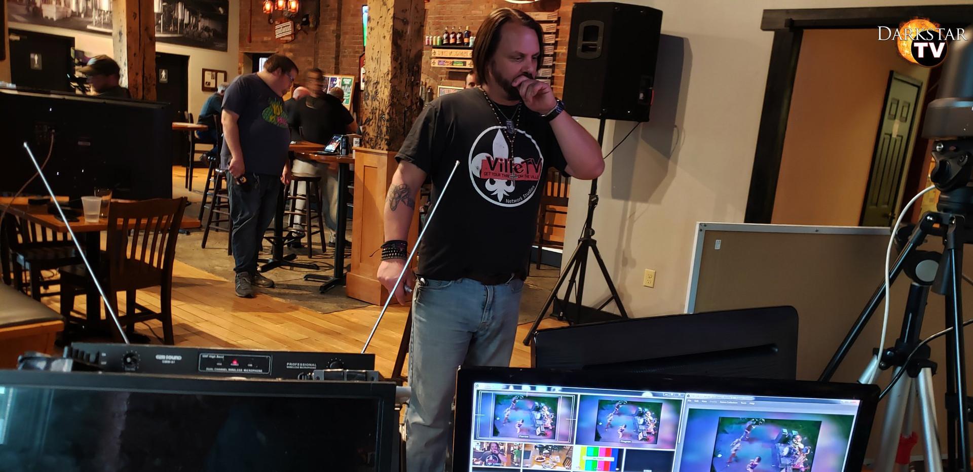 Sean at VilleTV Live on location at Good