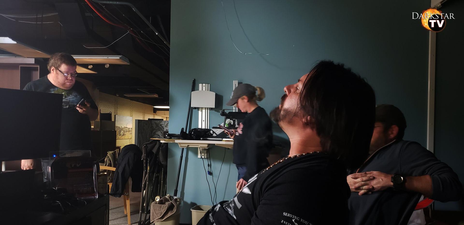 Sean looks on during VilleTV break
