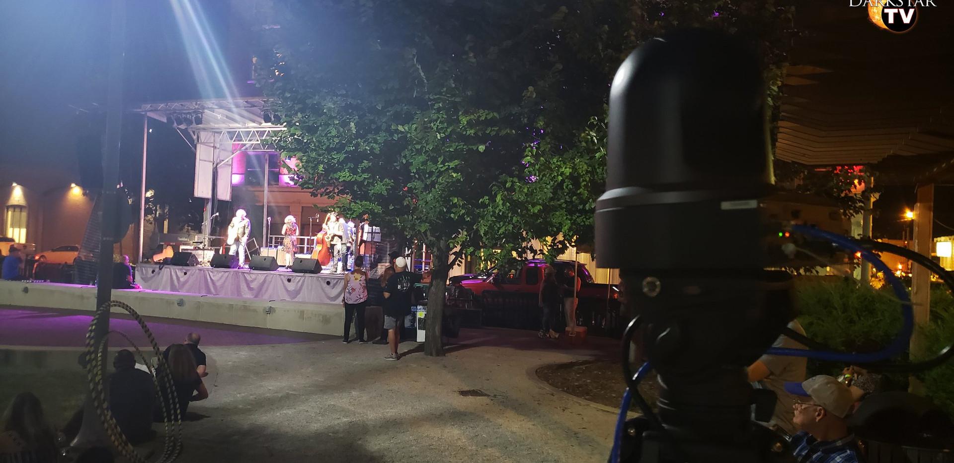 A Darkstar camera looks on at New Albany