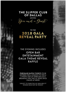 Slipper Club Gala Reveal Party Announced