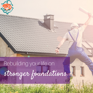 Builder jumping with joy in front of house | Metanao Counselling
