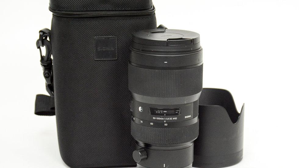 S/H Sigma 50-100mm F1.8 ART (EF-S)