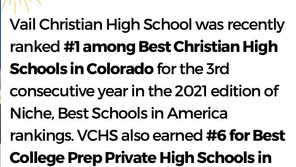VCHS Ranked Best Christian High School in Colorado for Third Straight Year