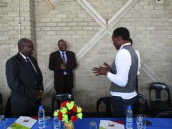 The dignitaries sharing views