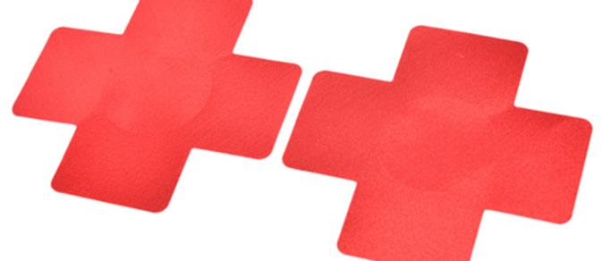Gleam Pasties - Red Crosses 1 Set