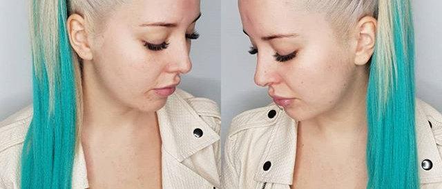 Teal Synthetic Hair