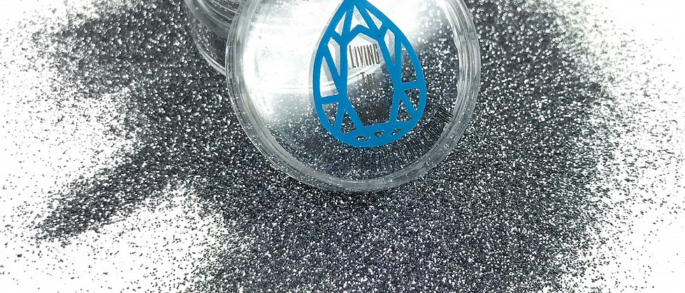 10Gram Gun Metal Glitter Loose - Ultra Fine .2