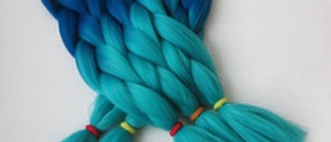 Deep Blue Sea Ombre Synthetic Hair
