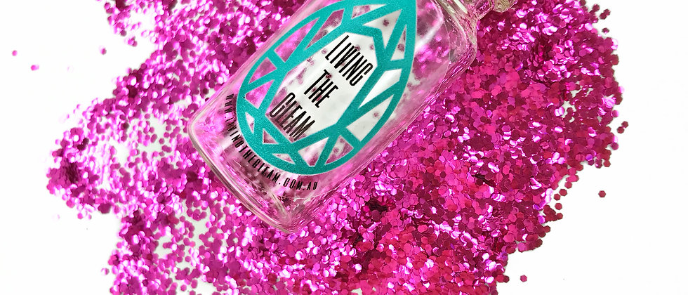 10Gram Lairy Pink Chunky Biodegradable Glitter Loose