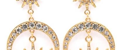 Moonshine Earings - Gold