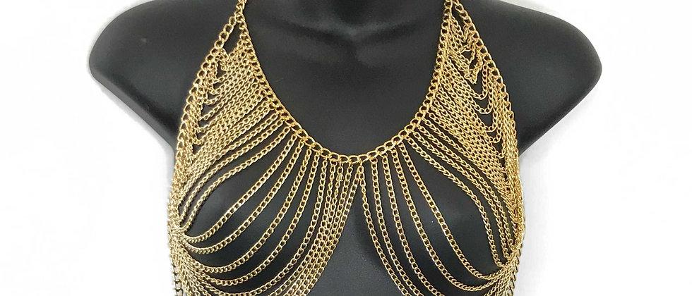 Babylon Chain Halter Top - Gold