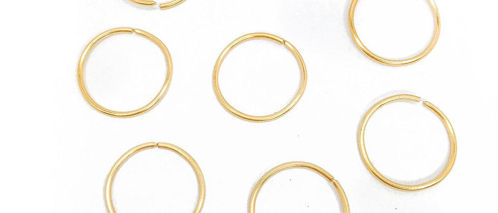 Gold Hair Rings - Pack of 8