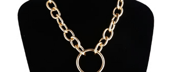 Oring Chain Necklace - Gold